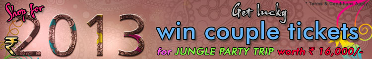 New Year Offer Luckydraw by Chappalwala.com, Shop for Rs 2013/- or above and get a chance to win couple tickets for Night Shadow 12