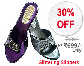 Online shoes shopping of the glittering upper studded with sparkling crystals offers an eye-catching appeal.