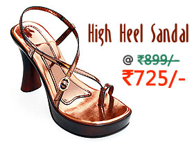 Sleek and trendy high heel sandal for girls
