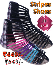 Fashionable light weight stripes shoes for girls by chappalwala