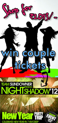 Shop for Rs. 2012/- and win new year party trip worth Rs. 16000/-