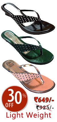buy shoes online and Show off your sparkling personality with this V-shape slipper for gals.